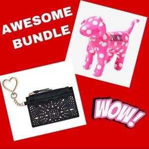 *BUNDLE* Victoria Secret Mini Dog & Card Case